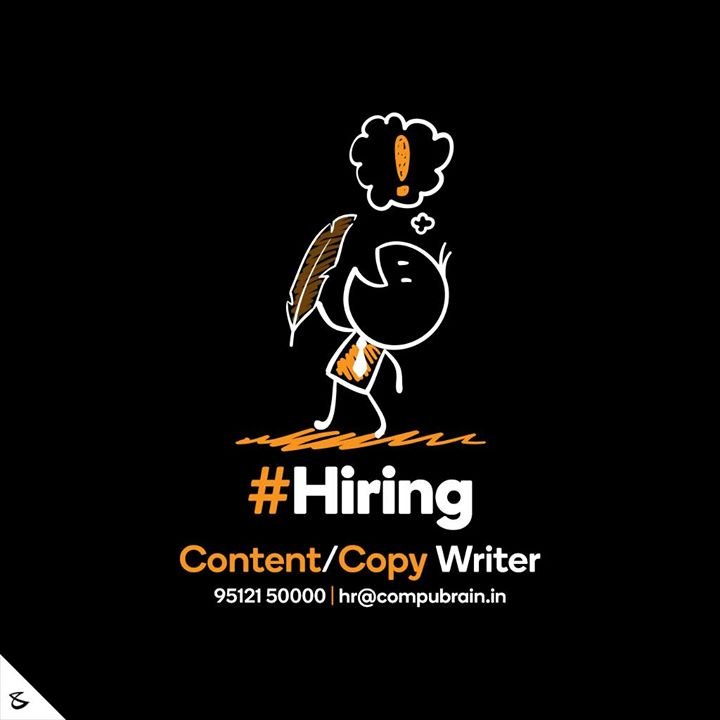 :: Hiring ::  #Business #Technology #Innovations #CompuBrain #ContentWriter #Hiring #CopyWriter