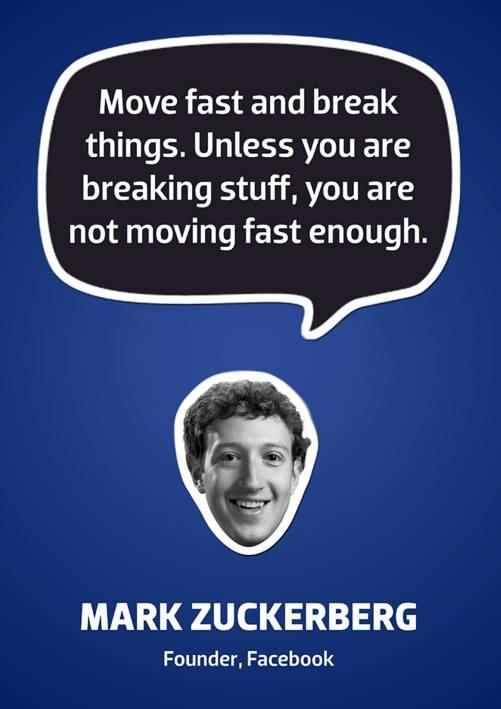 Hiren Doshi,  MondayMotivation, MarkZuckerberg, QOTD, WiseWords, Inspiration, CompuBrain, Business, Technology, Innovation