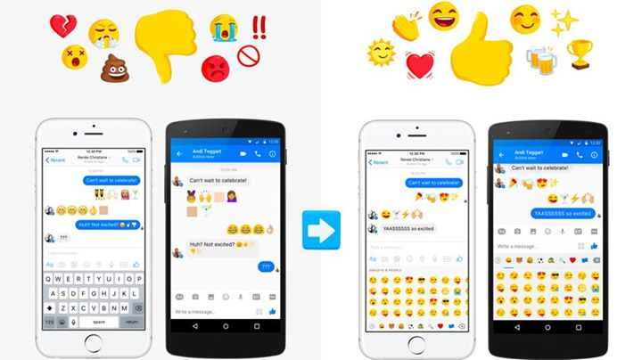 Facebook rolls out new diverse emoji for Messenger  The company updated Messenger with more than 100 new emoji characters