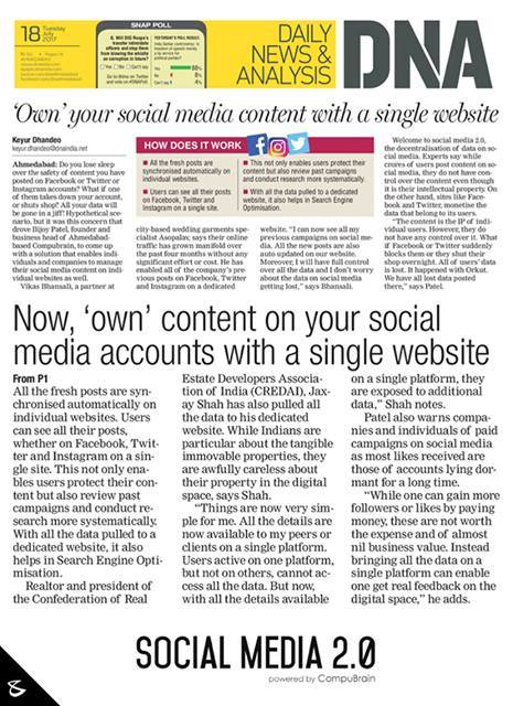 Hiren Doshi,  InTheNews, sm2p0, contentstrategy, SocialMediaStrategy, DigitalStrategy, SocialMediaTools, SocialMediaTips, FutureOfSocialMedia