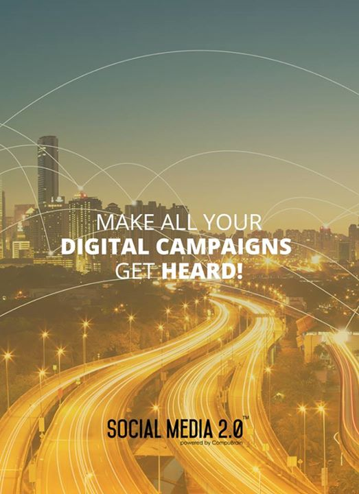 Make all your digital campaigns get heard!  #Consolidation #SocialMedia #SocialMedia2p0 #DigitalConsolidation #CompuBrain #sm2p0 #contentstrategy #SocialMediaStrategy #DigitalStrategy