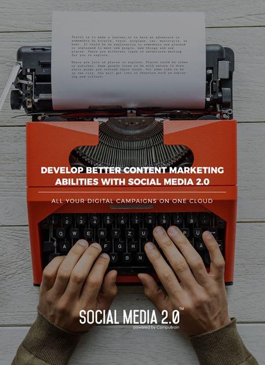 Explore better content marketing abilities with Social Media 2.0!  #SocialMedia2p0 #sm2p0 #contentstrategy #SocialMediaStrategy #DigitalStrategy