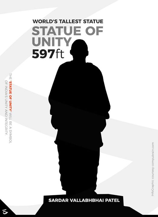 The 'Statue of Unity' will be a symbol of India's Unity and Integrity.  #Business #Technology #Innovations #CompuBrain #BrandingSquare #WorldsTallestStatue #Statue #StatueOfUnity #SardarVallabhbhaiPatel #HappyBirthday