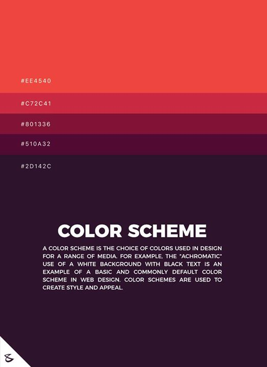 The theory of #color scheme  #CompuBrain #Business #Technology #Innovations #DigitalMediaAgency #Branding #BrandingAgency #Colors #Gujarat #Design #Webdesign