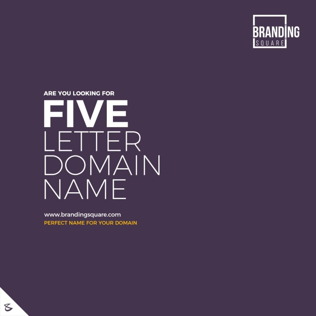 Are you looking for five letter domain name? We are here to help you  Visit: https://www.brandingsquare.com/  #CompuBrain #Business #Technology #Innovations #DigitalMediaAgency #BrandingSquare #PremimumDomains #Domain