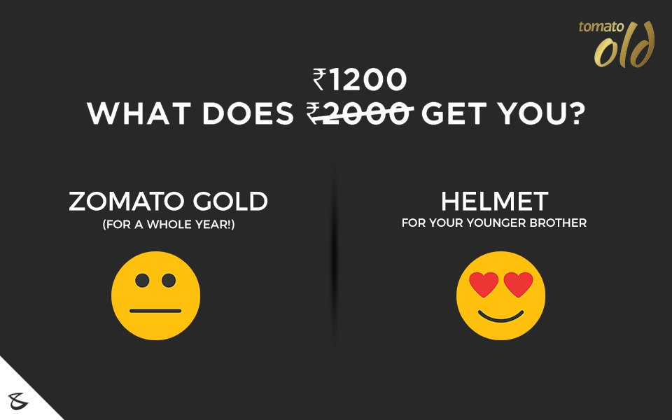 RT @IamHiralRana: Spend wisely!   Choose the BEST!  Image Credit: @CompuBrain  #zomatogold #MoneyMatters https://t.co/eCxh5BLAUa
