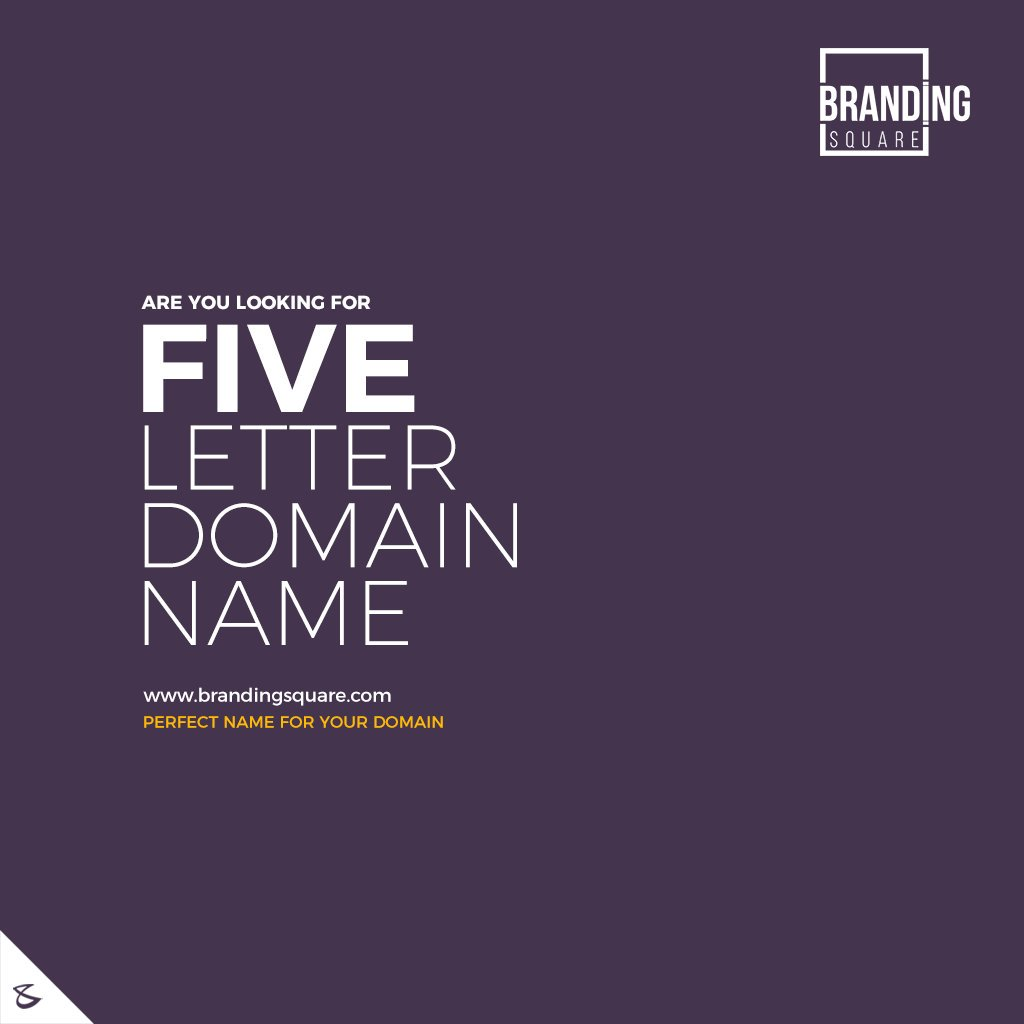 Are you looking for five letter domain name? We are here to help you       Visit: https://t.co/ORRcanYYAL        #CompuBrain #Business #Technology #Innovations #DigitalMediaAgency #BrandingSquare #PremimumDomains #Domain https://t.co/ODxfCW8sG7