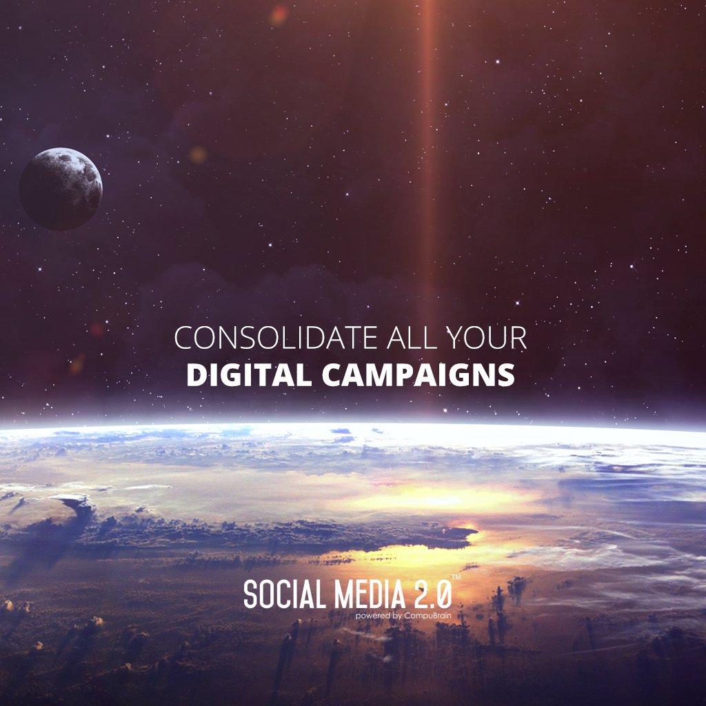 Consolidate your #DigitalCampaigns..  #SocialMedia2p0 #DigitalConsolidation #CompuBrain #sm2p0 #contentstrategy #SocialMediaStrategy https://t.co/X2Ntzw0NXj