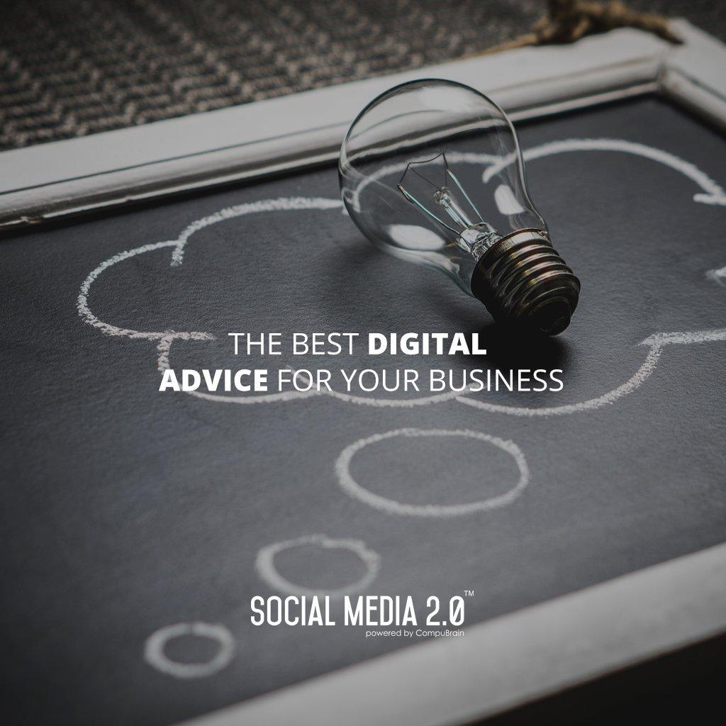 The best #DigitalAdvice for your business!  #SocialMedia #SocialMedia2p0 #DigitalConsolidation #CompuBrain #sm2p0 #contentstrategy #SocialMediaStrategy #DigitalStrategy https://t.co/LPQcnFmOL9