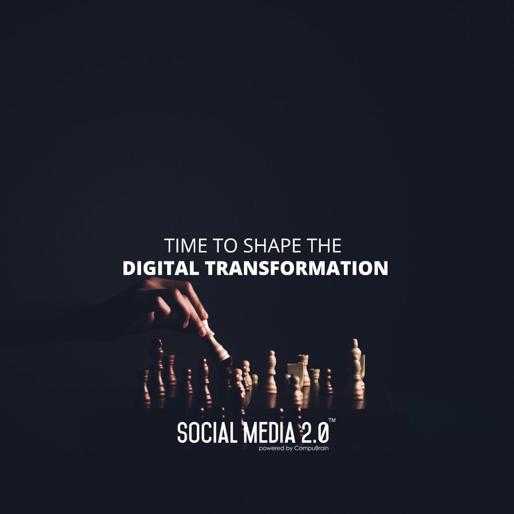 Time to shape the #DigitalTransformation!   #SocialMedia #SocialMedia2p0 #DigitalConsolidation #CompuBrain #sm2p0 #contentstrategy #SocialMediaStrategy #DigitalStrategy https://t.co/3XkRme2Sii