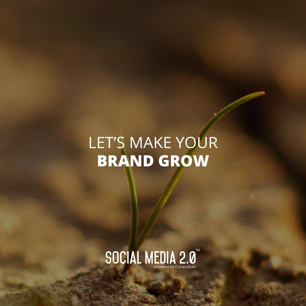 Let's make your brand grow.  #SocialMedia2p0 #sm2p0 #contentstrategy #SocialMediaStrategy #DigitalStrategy https://t.co/WvxxyxaCaU
