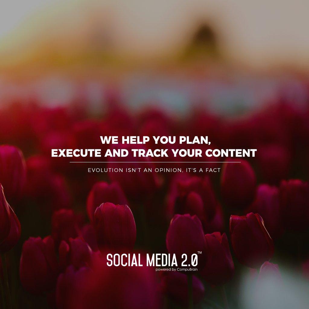 Plan | Execute | Track your content!  #SocialMedia2p0 #sm2p0 #contentstrategy #SocialMediaStrategy #DigitalStrategy https://t.co/TkZEqG9qHG
